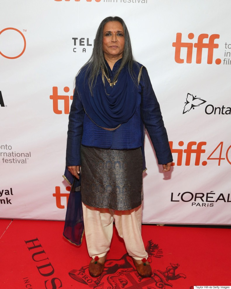 """TORONTO, ON - SEPTEMBER 13: Director Deepa Mehta attends the gala premiere of """"Beeba Boys"""" at Roy Thomson Hall during the 2015 Toronto International Film Festival on September 13, 2015 in Toronto, Canada. (Photo by Taylor Hill/FilmMagic)"""