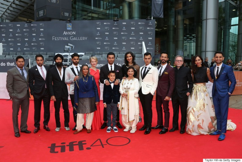 """TORONTO, ON - SEPTEMBER 13: Cast and crew attend the gala premiere of """"Beeba Boys"""" at Roy Thomson Hall during the 2015 Toronto International Film Festival on September 13, 2015 in Toronto, Canada. (Photo by Taylor Hill/FilmMagic)"""