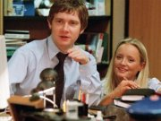 10. Tim Canterbury and Dawn Tinsley, The Office (2001-2003) Tim Canterbury and Dawn Tinsley gave hope that soulmates do eventually connect, crystallised in one perfect moment – the Christmas party gift and its message: Never give up.