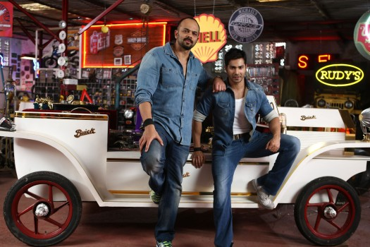 ROHIT SHETTY AND VARUN DHAWAN ON DAY ONE SHOOT OF DILWALE 675C7012