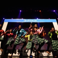 Smiles, and a whole lot of style! The Markham Adult Combo class on stage with their Tollywood Medley!