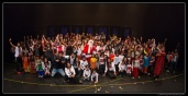 Students, Parents, and instructors buzzing with energy and excitement after a successful Winter Funk show!