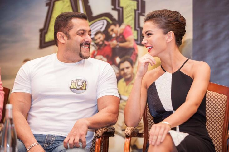 Salman Khan and the Freaky Ali team in Dubai for film promotions
