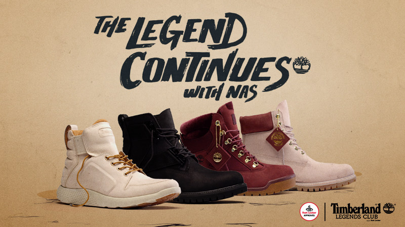 20c33b4c29fa Foot Locker And Timberland Team Up With Hip-Hop Legend Nas To Launch Fall  2017 Legends Collection