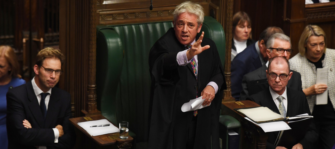 John Bercow in parliament