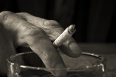 Cigarette in someone's hand