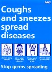Coughs and sneezes public health info poster