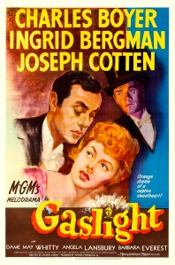 Poster from 1944 film 'Gaslight' starring Ingrid Bergman